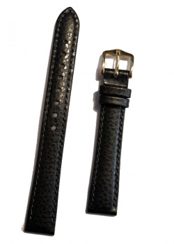 Hirsch 'Kansas' Black Calfskin Leather Strap, 14mm - 01502150-1-14