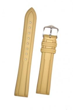 Hirsch 'Hevea' 20mm Premium Beige Rubber Strap  - 40458890-2-20