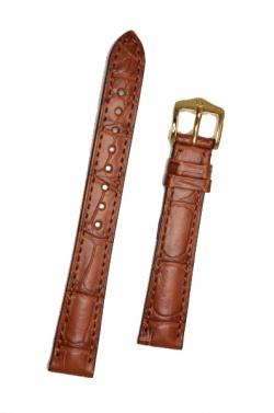 Hirsch 'London' M Golden Brown Leather Strap, 16mm - 04207179-1-16