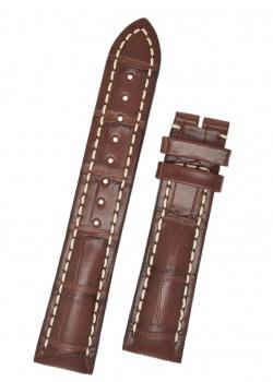 Hirsch 'Capitano' 24mm Matt Brown Alligator Leather Strap  - 04807019-0-24