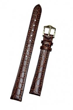 Hirsch 'Aristocrat' 16mm Brown Leather Strap  - 03828110-1-16