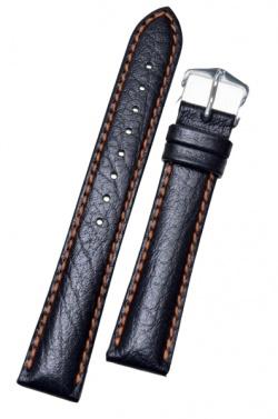 Hirsch 'Jumper' Black Leather Strap, 20mm - 04402052-2-20