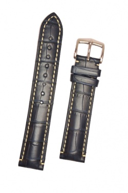 Hirsch 'Viscount' Blue Leather Strap, 19mm - 10270789-2-19