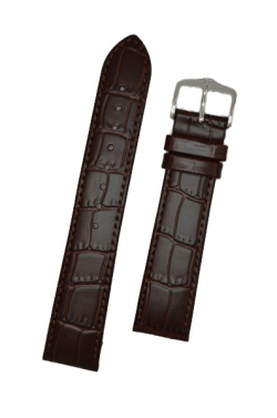 Hirsch 'LouisianaLook' M Brown Leather Strap, 18mm - 03427110-2-18