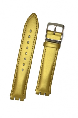 Hirsch Grace, Watch Strap for Swatch Gents in Gold, 16mm, Steel Buckle  - 64003678-2-20