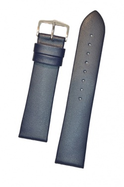 Hirsch 'Diamond calf'' Blue Leather Strap,L, 18mm - 14120280-1-18