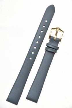Hirsch 'Italocalf' Grey Leather Strap, 12mm - 17802030-1-12