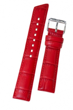 Hirsch 'princess' Red leather strap 18mm - 02628120-2-18