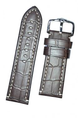 Hirsch 'Knight' 26mm Brown Leather Strap  - 10902810-2-26