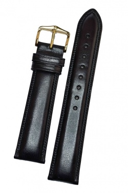 Hirsch 'Ascot' 16mm Black Leather Strap  - 01575050-1-16
