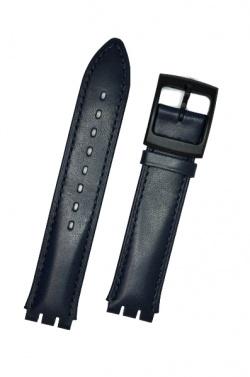 Hirsch William, Watch Strap for Swatch Gents in Blue, 17mm, Plastic Buckle  - 64017580-5-20