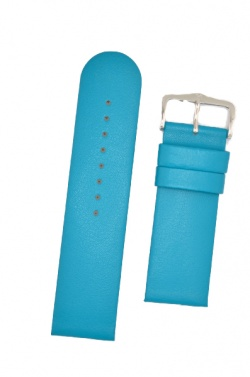 Hirsch 'Scandic' Turquoise, leather watch strap 24mm - 17852083-2-24