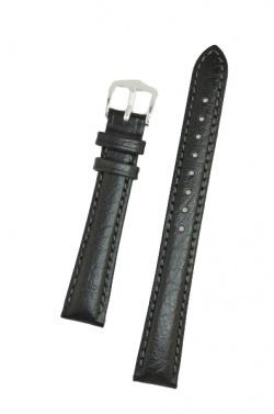 Hirsch 'Highland' M Black, Leather Watch Strap 14mm - 04302150-2-14