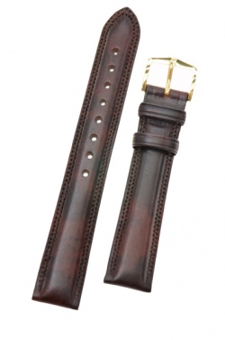 Hirsch 'Ascot' 18mm Brown Leather Strap  - 01575010-1-18