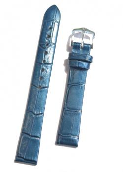 Hirsch 'Duchess'  14mm  Blue Patent Leather Strap  - 02728180-2-14