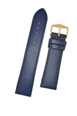 Hirsch 'Umbria ' M Blue Leather Strap, 20mm - 13700280-1-20