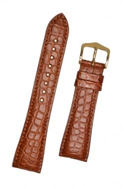 Hirsch 'Regent' M Golden Brown Leather Strap, 19mm - 04107179-1-19