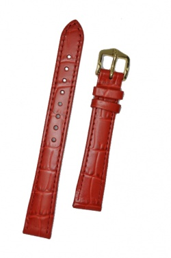 Hirsch 'LouisianaLook' M Red Leather Strap, 14mm - 03427120-1-14