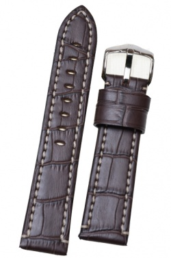 Hirsch 'Knight' XL 20mm Brown Leather Strap  - 10922810-2-20