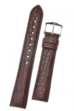 Hirsch 'Regent' Brown Leather Strap, 18mm - 04107019-2-18