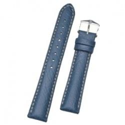 Hirsch 'Jumper' Blue Leather Strap, 22mm - 04402080-2-22