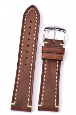 Hirsch 'Liberty' 24mm Brown Leather Strap  - 10900210-2-24