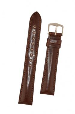 Hirsch 'Siena' L Brown, 20mm  Tuscan Leather Strap  - 04202010-2-20
