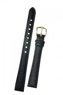 Hirsch 'Rainbow' Black Leather Strap, 14mm - 12302650-1-14