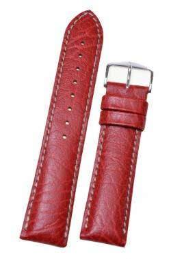 Hirsch 'Jumper' Red Leather Strap, 22mm - 04402020-2-22