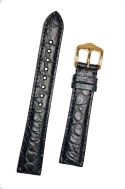 Hirsch 'Regent' M Blue Leather Strap, 16mm - 04107189-1-16