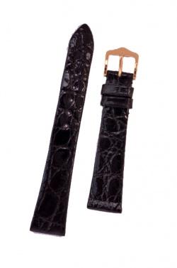 Hirsch 'Prestige' M 19mm Black Leather Strap  - 02208150-1-19