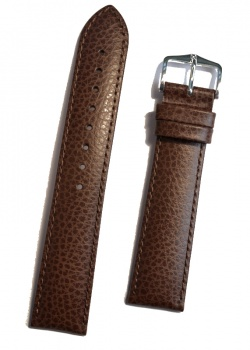 Hirsch 'Kansas' Brown Calf Leather Strap, 16mm - 01502010-2-16