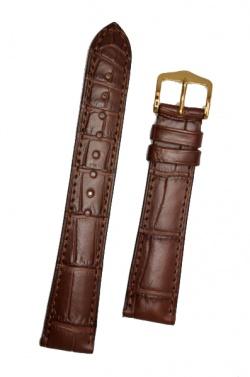 Hirsch 'London' L Brown Leather Strap, 18mm - 04207019-1-18