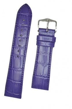 Hirsch 'LouisianaLook' M Violet Leather Strap, 18mm - 03427186-2-18