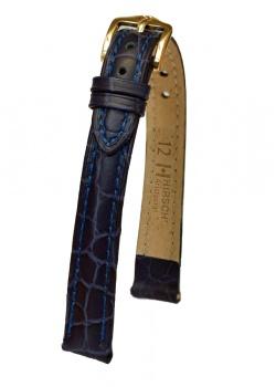 Hirsch 'Aristocrat' 14mm Blue ,M,  Leather Strap  - 03828180-1-14