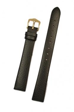 Hirsch 'Dakota' 08mm Black Leather Strap, M  - 17800250-1-08