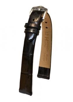 Hirsch 'Duchess' Black Leather Strap, 12mm - 02728150-2-12