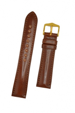 Hirsch 'Siena' M Brown, 18mm  Tuscan Leather Strap  - 04202110-1-18