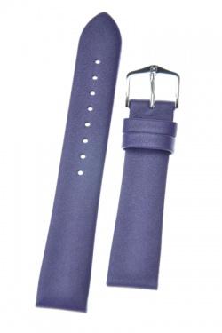 Hirsch 'Cashmere-aloe vera' Purple Leather Strap, 18mm - 03902186-2-18