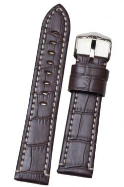 Hirsch 'Knight' XL 22mm Brown Leather Strap  - 10922810-2-22