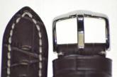 Hirsch 'Knight' XL 20mm Brown Leather Strap