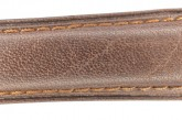 Hirsch 'Camelgrain' L 19mm Brown Leather Strap
