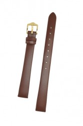 Hirsch 'Italocalf' Brown ,L,  Leather Strap, 12mm