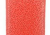 Hirsch 'Diamond calf'' Red Leather Strap,L, 20mm