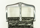 Hirsch 'Rainbow' L Black Leather Strap, 22mm