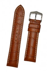 Hirsch 'Modena' Honey Leather Strap, 22mm