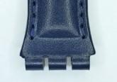 Hirsch Arizona,  Watch Strap for Swatch Chronos in Blue, 19mm, Steel Buckle