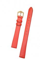 Hirsch 'Diamond calf'' Red Leather Strap,M, 16mm