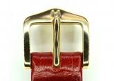 Hirsch 'Osiris' Red Leather Strap, 16mm