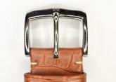 Hirsch 'Viscount' Golden Brown Leather Strap, 21mm